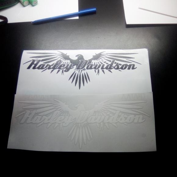 Harley Davidson motorcycle decal sticker